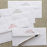 Printed Postcard Envelopes with Return Address - 7914