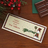 Personalized Holiday Candy Bar Wrapper - Snowman - 7917