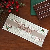 Personalized Holiday Candy Bar Wrapper - Family Names - 7919