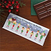 Personalized Christmas Candy Bar Wrapper - Elf Family - 7920