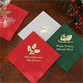 Personalized Napkins for Christmas Parties - 7926