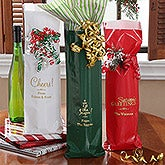 Holiday Spirit© Personalized Wine Bags