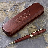 Personalized Rosewood Pen Set - Choose Your Quote - 7932