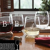 Personalized Stemless Wine Glass Set