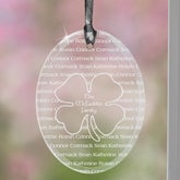 Irish Family Personalized Four Leaf Clover Suncatcher - 7955