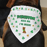 Personalized Dog Bandana - Irish Shamrocks - 7959