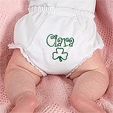 Personalized Baby Diaper Covers - Irish Shamrock - 7960