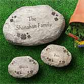 Irish Shamrocks Personalized Garden Stones - Large