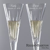 Reed & Barton© Personalized Crystal Flute Set