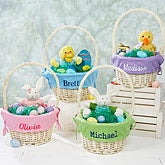 Blue Personalized Easter Baskets for Boys