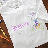 Personalized Easter Clothes for Kids - Hopping Easter Bunny - 7987