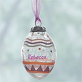 Personalized Glass Easter Egg Ornaments - 8031
