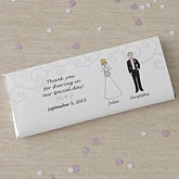 Personalized Bride & Groom Character Wedding Favors Candy Bar Wrappers - 8034