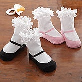 Baby Girl Mary Jane Sock Set - 8052