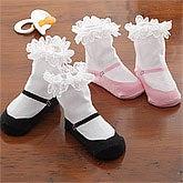 Baby Girl Mary Jane Sock Set - 8052