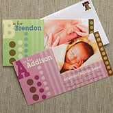 Photo Baby Birth Announcements - Alphabet Name - 8067