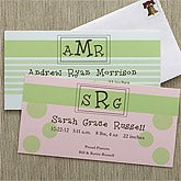 Baby Monogram© Personalized Announcement