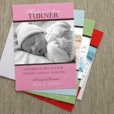 Personalized Photo Birth Announcements - Precious Photo - 8073