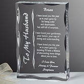 Personalized Gifts Sculpture with Romantic Love Poem - 8095