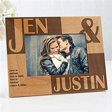 Personalized Wood Picture Frames - Romantic Couple - 8098