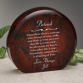 Personalized Sienna Marble Keepsake With Romantic Verse - 8099