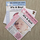 Baby Photo Birth Announcements - Newspaper Headline - 8106
