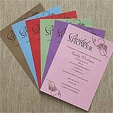 Personalized Bridal Shower Invitations - Bridal Blossoms - 8107