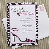 Personalized Bachelorette Party Invitations - Wild Side - 8112