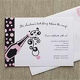 Last Fling© Personalized Bachelorette Invitations