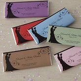 Wedding Favor Personalized Candy Bar Wrappers - Silhouette - 8116