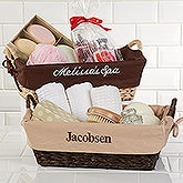 Custom Monogram Personalized Wicker Basket