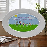 Personalized Family Holiday Platter