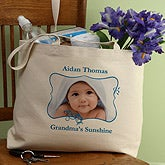 Personalized Photo Canvas Tote Bag for Her - 8165