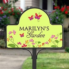 Floral Welcome Personalized Garden Yard Stake - 8233