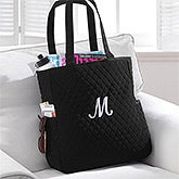 Personalized Quilted Tote Bag & Makeup Bag Set