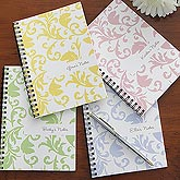 Personalized Notebook Sets - Floral Damask - 8260