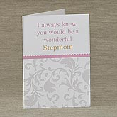 Personalized Mother Greeting Cards - Wonderful You - 8264