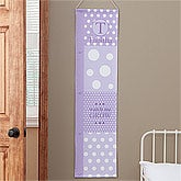 Personalized Growth Chart - Girls Polka Dots - 8276