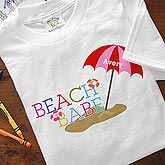 Personalized Kids Clothing - Beach Babe - 8277