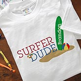Personalized Beach Clothing - Surfer Dude - 8278