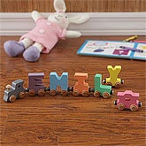 Personalized Wooden Name Train - Pastel - 8283D