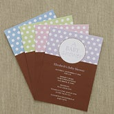 Personalized Baby Shower Invitations - Polka Dots - 8286