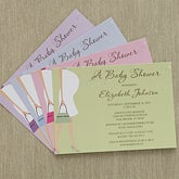 Personalized Baby Shower Invitations - Baby Bump - 8287