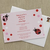Personalized Baby Shower Invitations - Love Bug - 8288