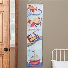 Personalized Growth Chart - Planes, Trains & Boats - 8291