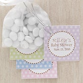 Personalized Baby Shower Party Favor Tag - Polka Dots - 8309