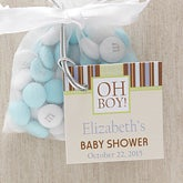 Personalized Baby Shower Party Favor Tag - Oh Boy - 8323