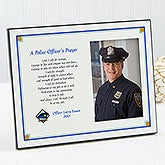 Personalized Police Offer's Prayer Photo Plaque - 8326