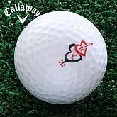 Cupid's Arrow© Personalized Golf Balls