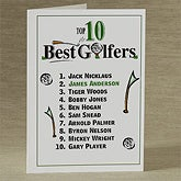 Personalized Top 10 Golfers Greeting Card - 8337